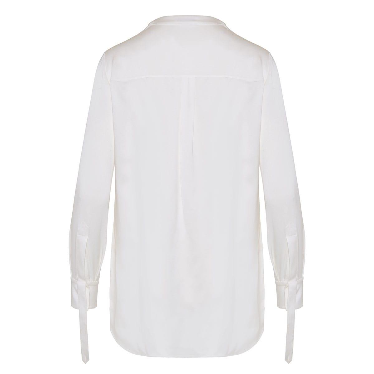 Bow-tie silk shirt