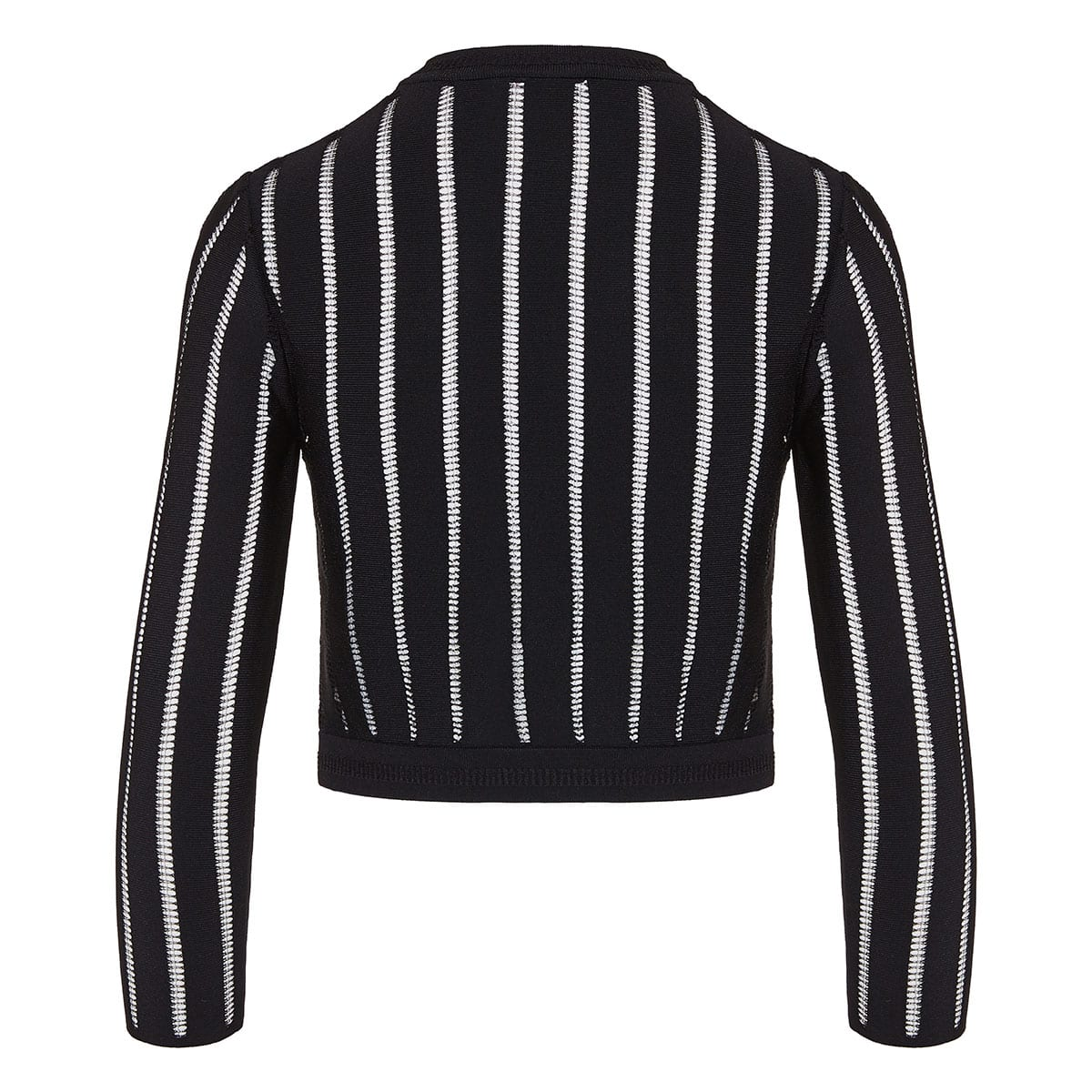 Striped cropped cardigan