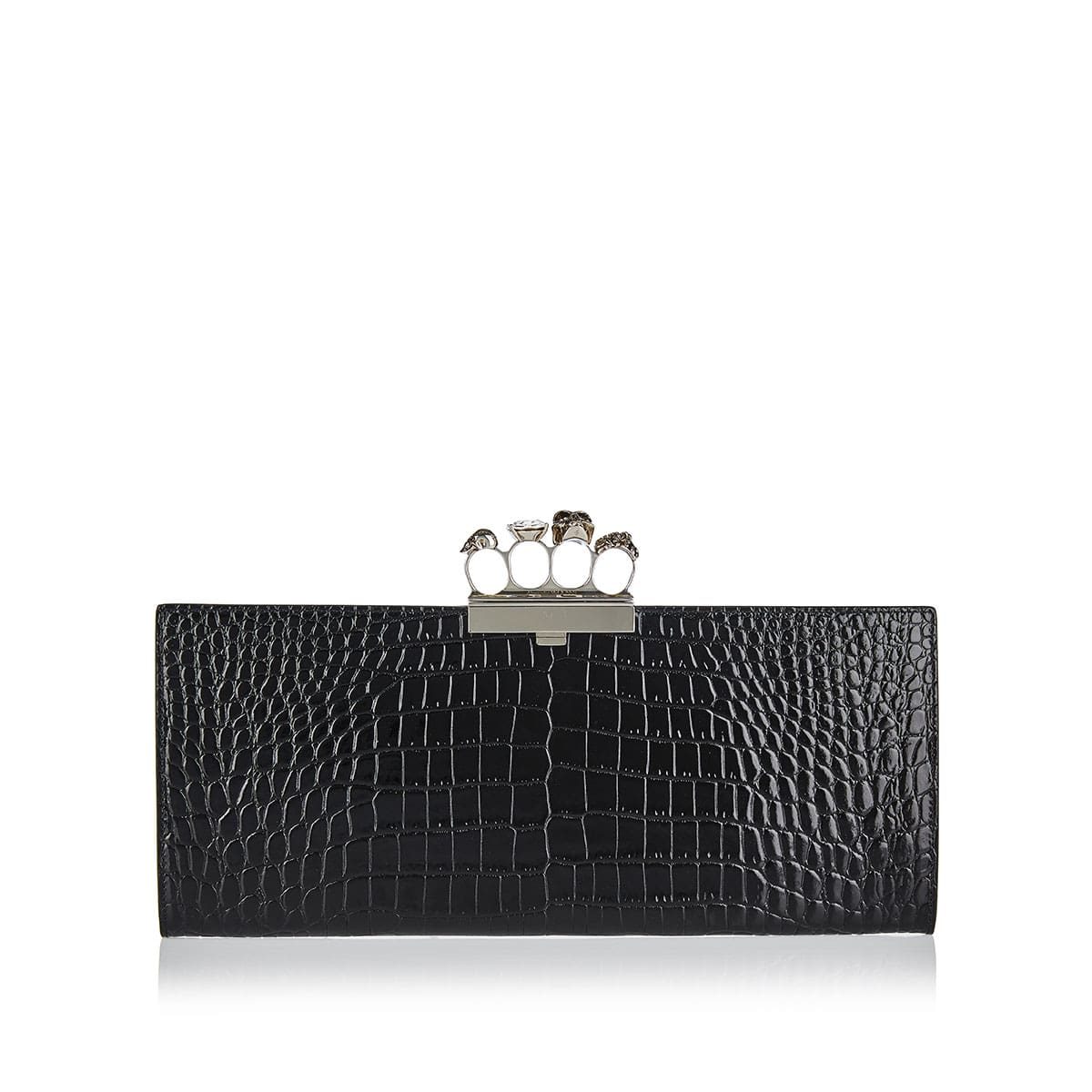 Four ring croc-effect clutch