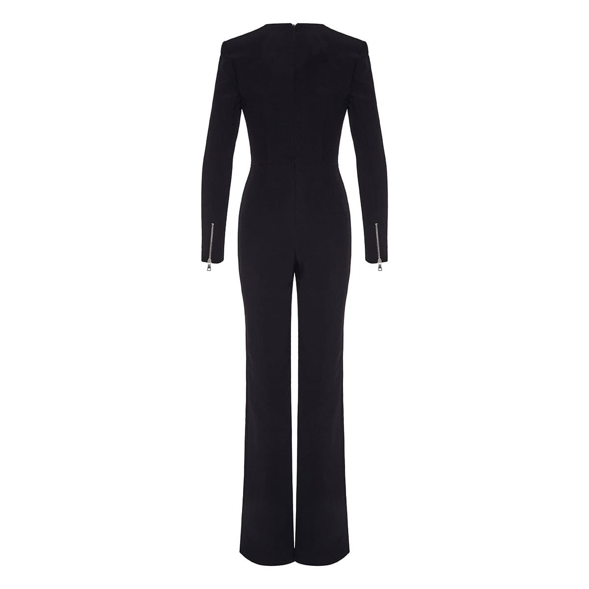 Slim-fit crepe jumpsuit