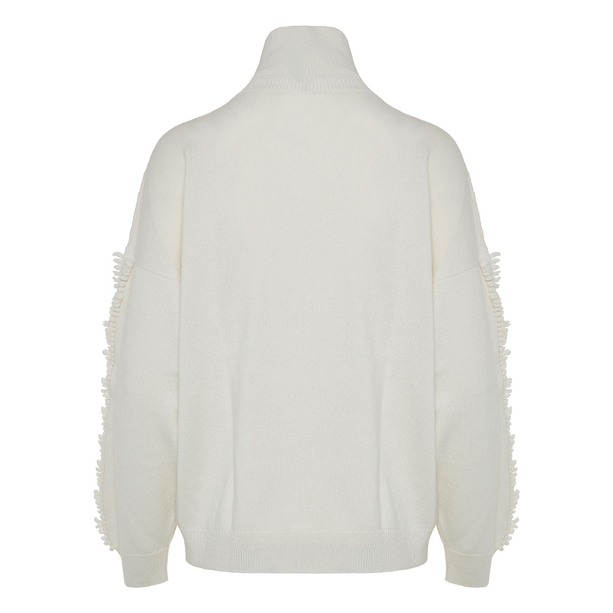 Oversized balloon-sleeved cashmere sweater