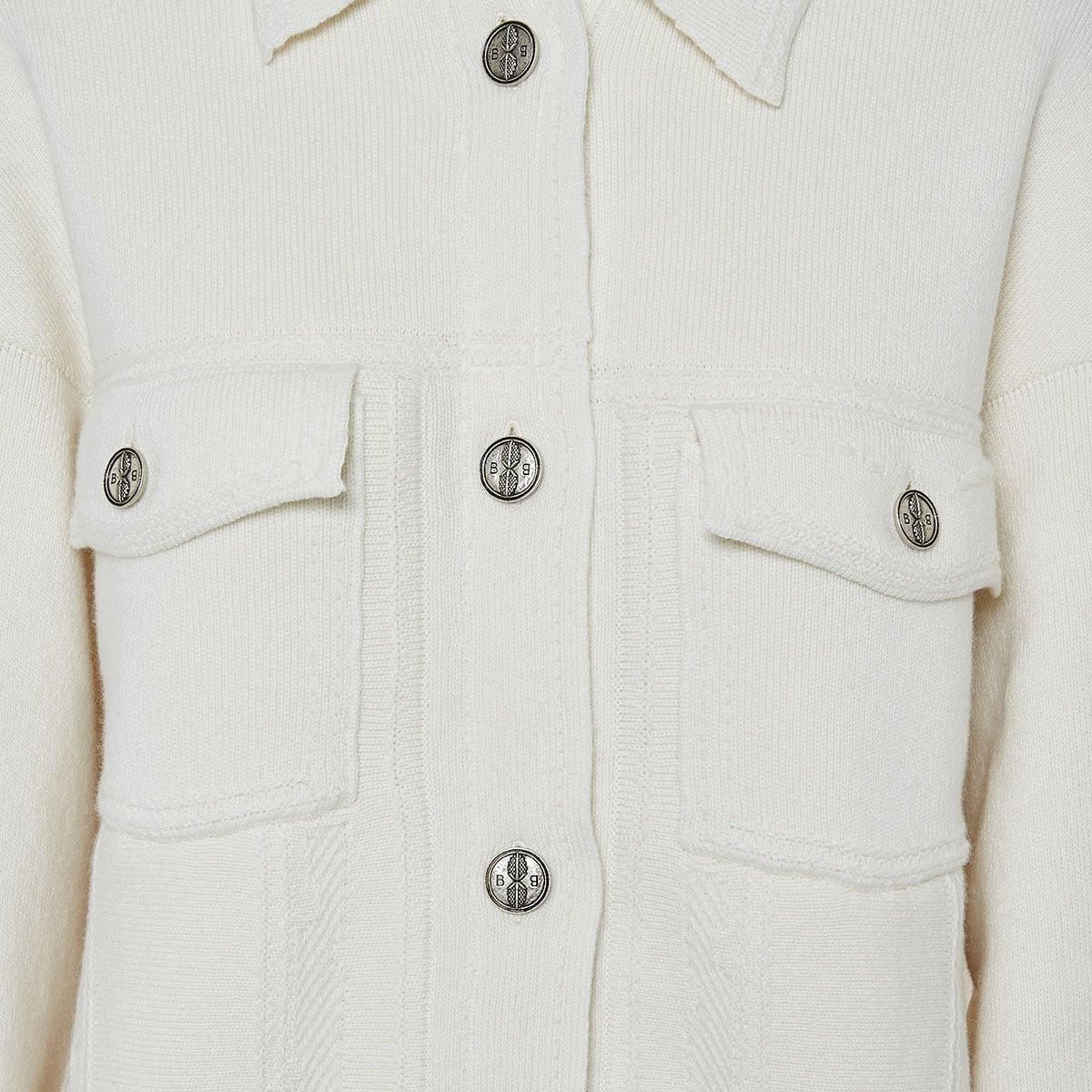 Oversized cashmere-knitted jacket