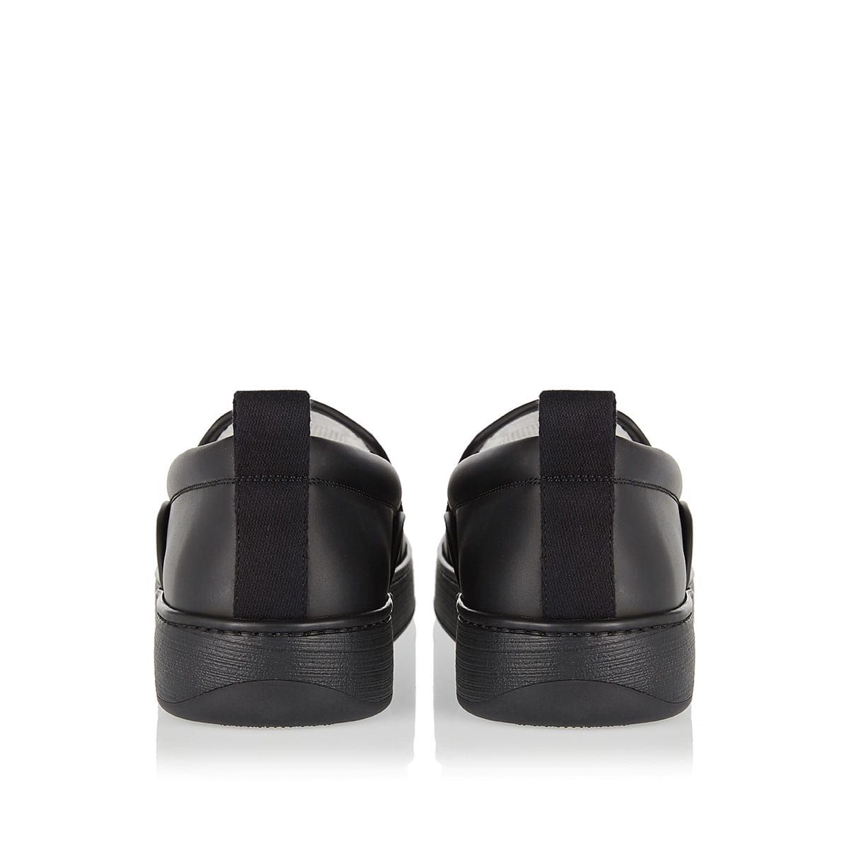 Maxi Intreccio slip-on leather sneakers