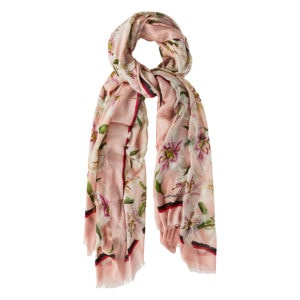 Lily-print scarf