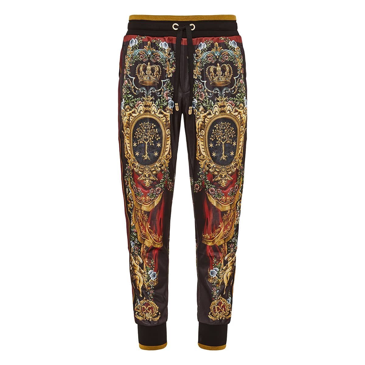 Baroque print track trousers