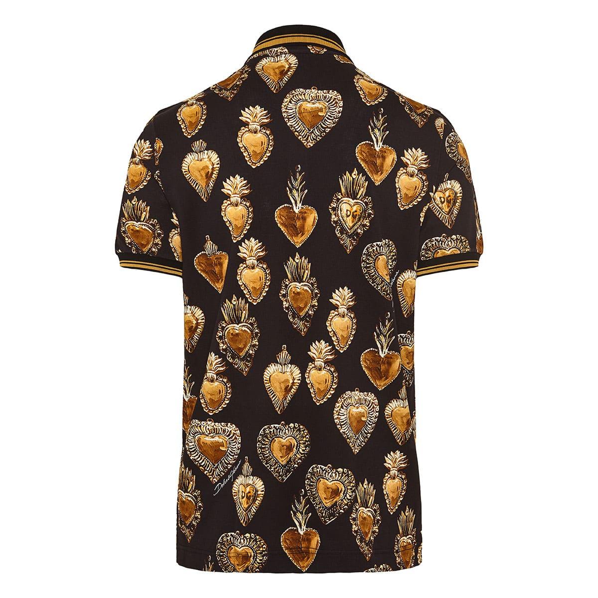 Sacred Heart printed polo shirt
