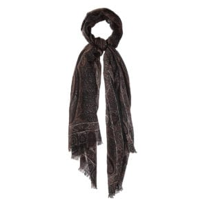Paisley wool-cashmere scarf