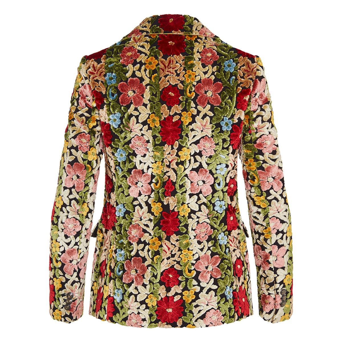Carpet-embroidered floral blazer