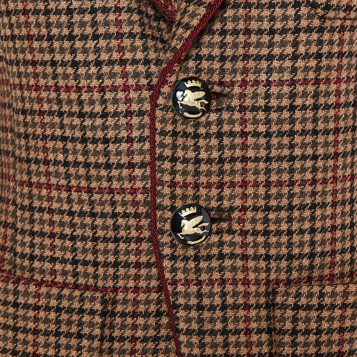 Checked wool blazer