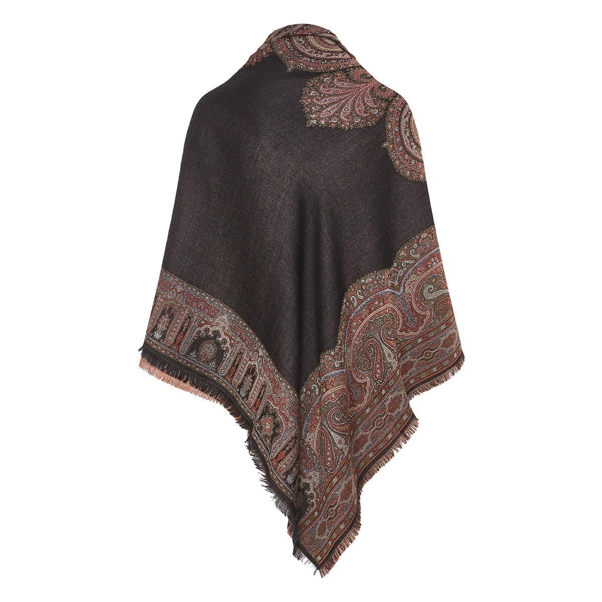 Paisley wool-silk shawl