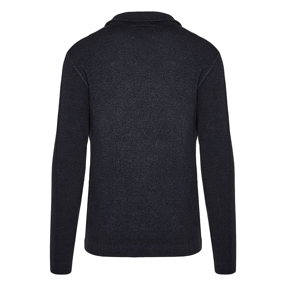 Blazer-style wool cardigan