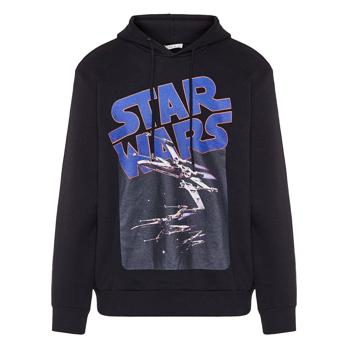 x Star Wars printed cotton hoodie