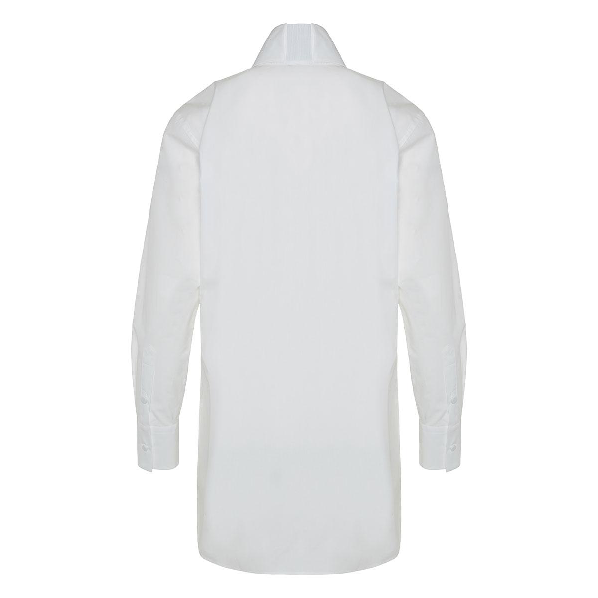 High-collar cotton shirt