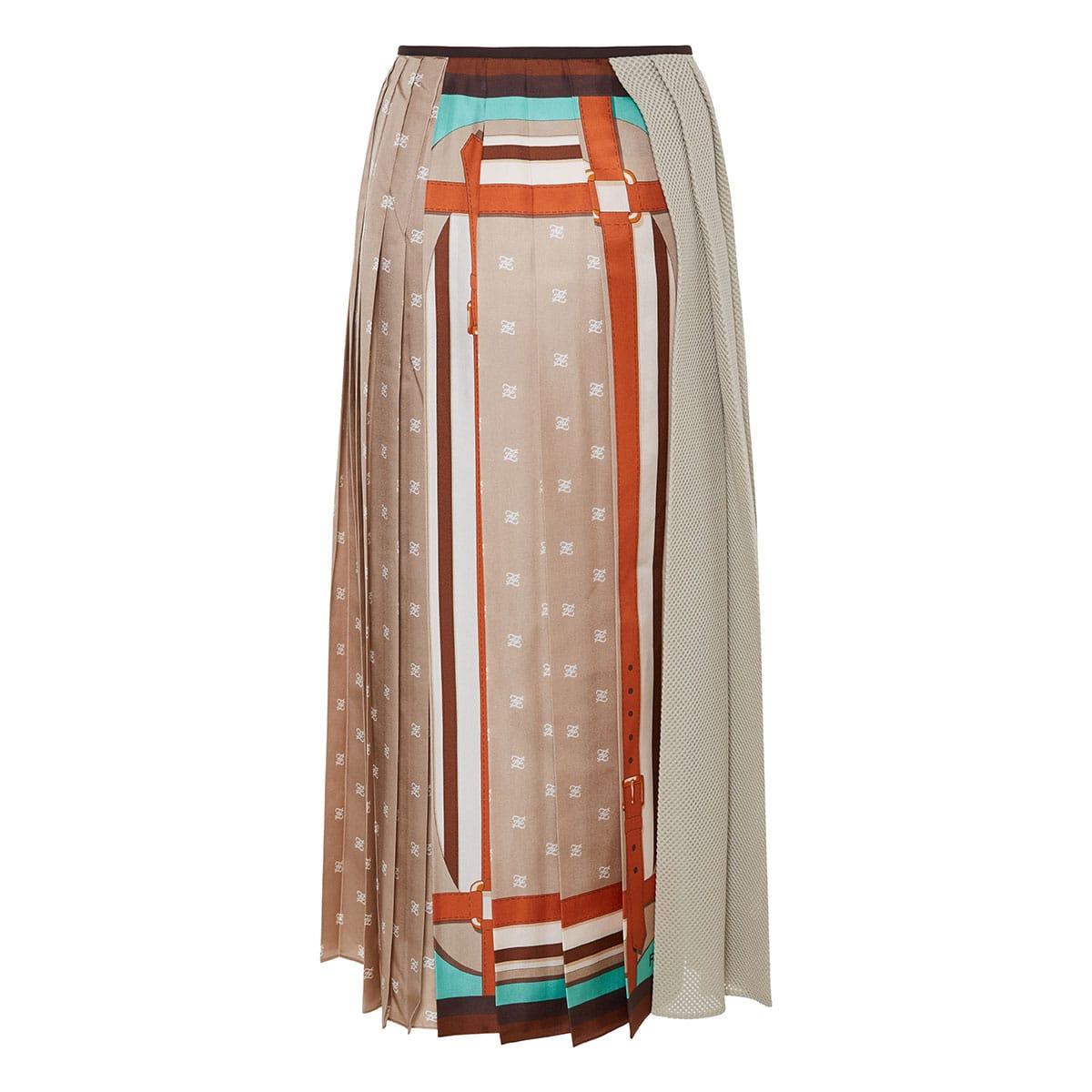 FF Karligraphy wrap pleated midi skirt