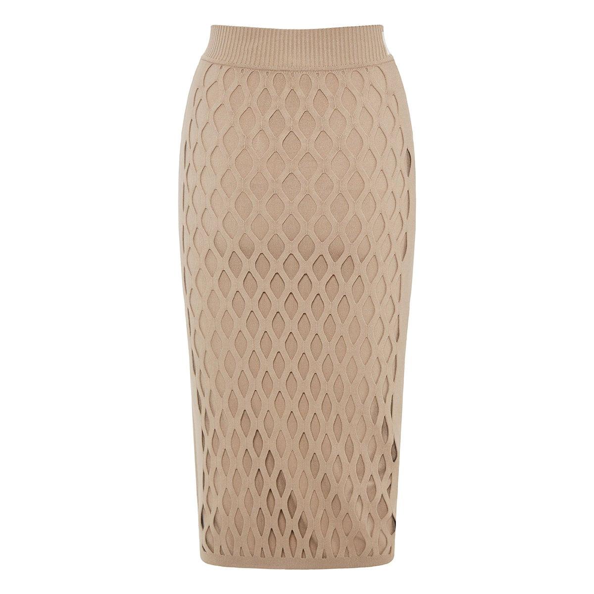 FF mesh-paneled pencil skirt