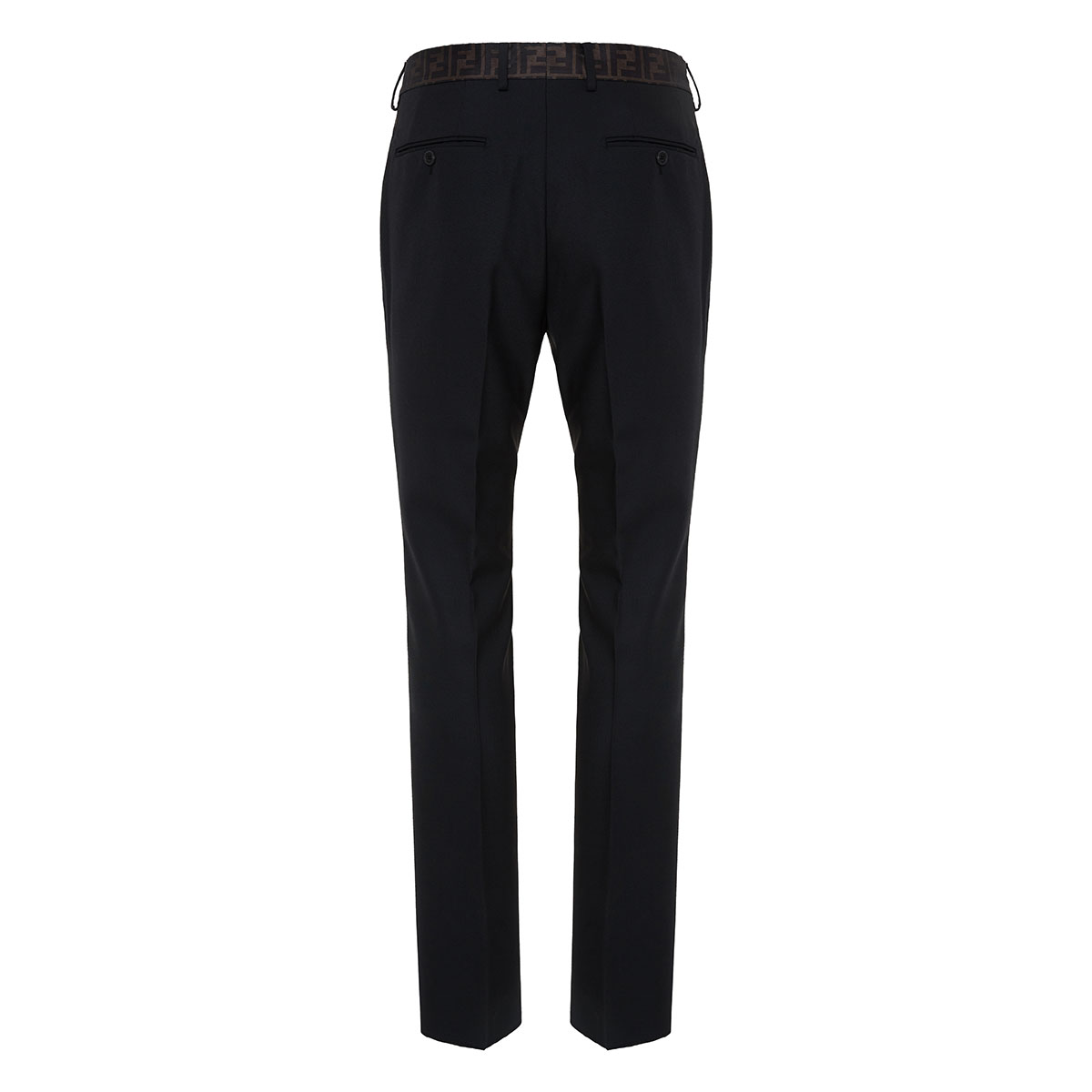 FF-detailed tailored trousers