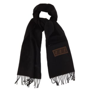 FF patch wool scarf