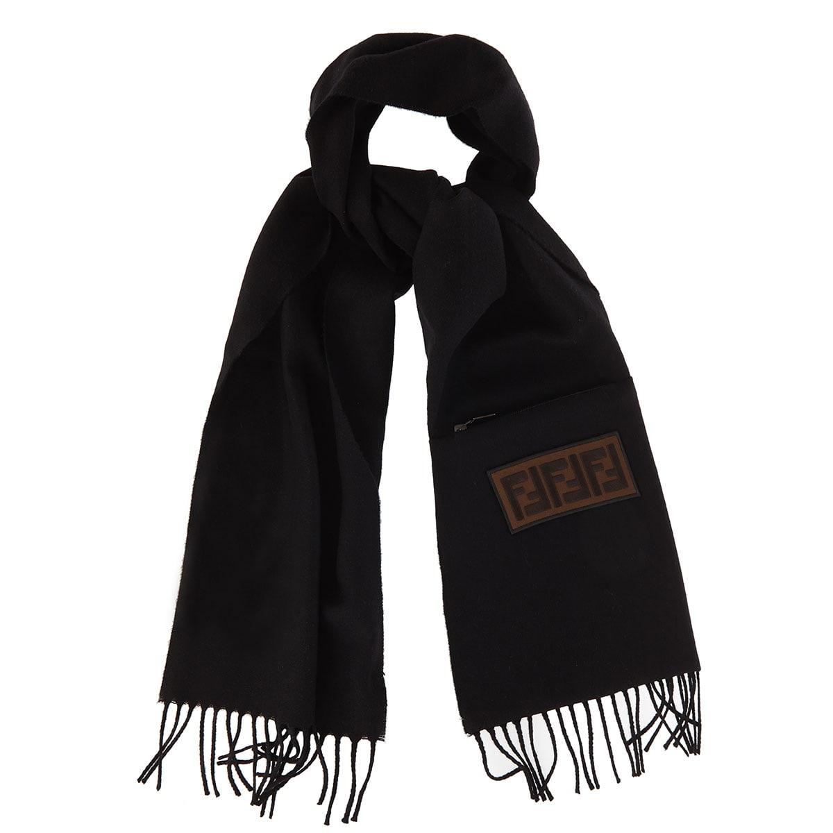 FF patch wool scarf