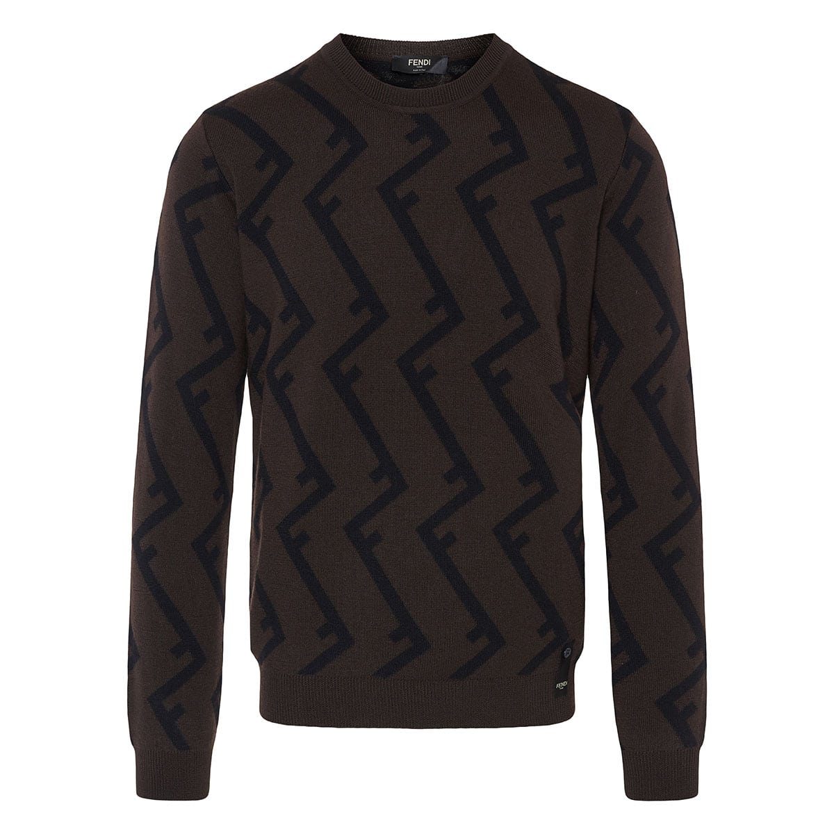 FF jacquard wool sweater