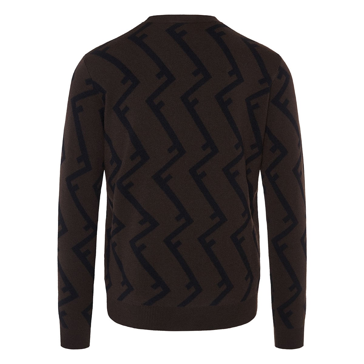 FF jacquard wool sweater