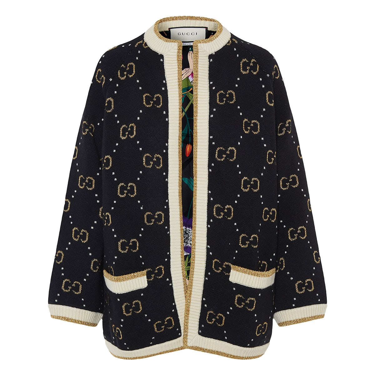GG jacquard knitted cardigan