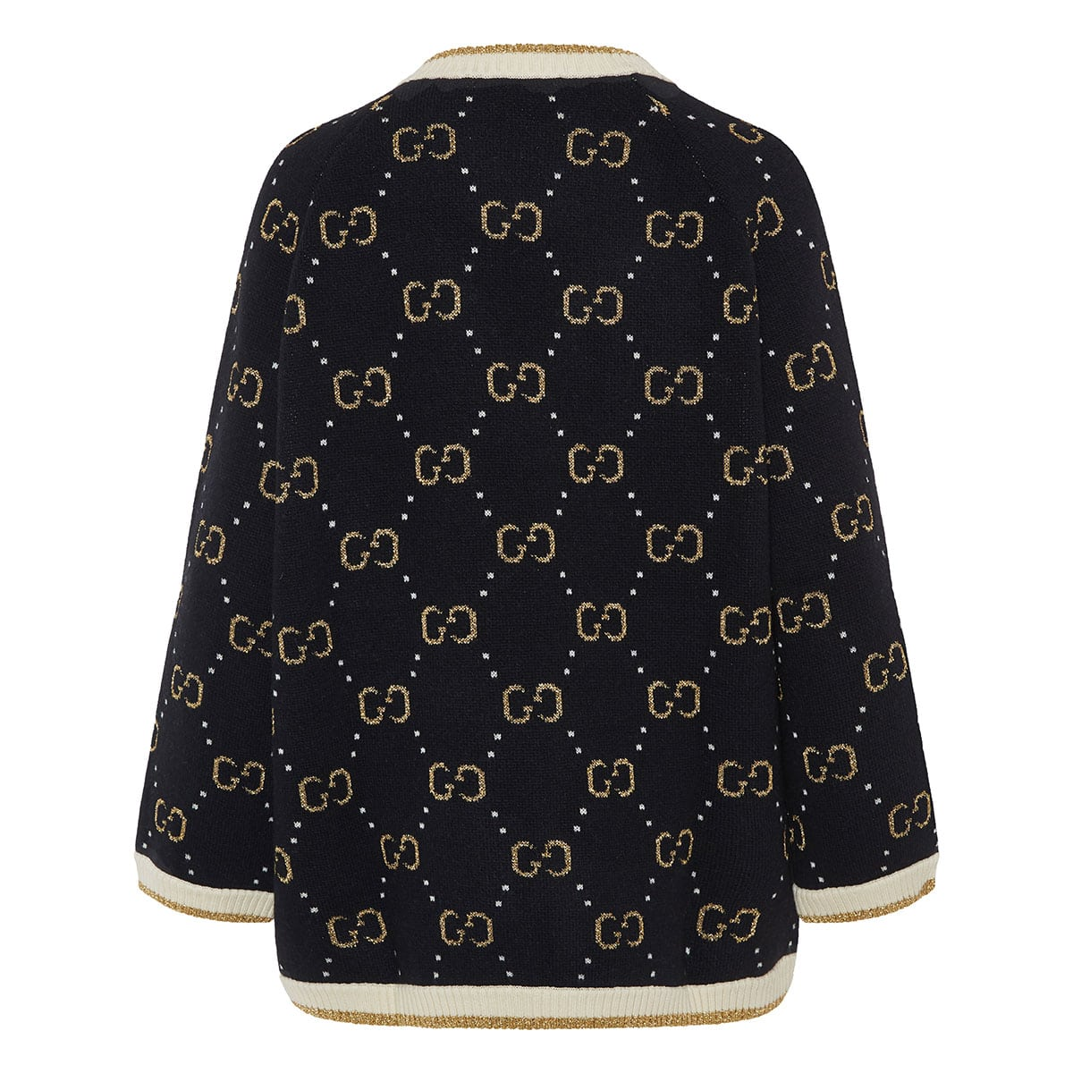 GG jacquard knitted cardigan