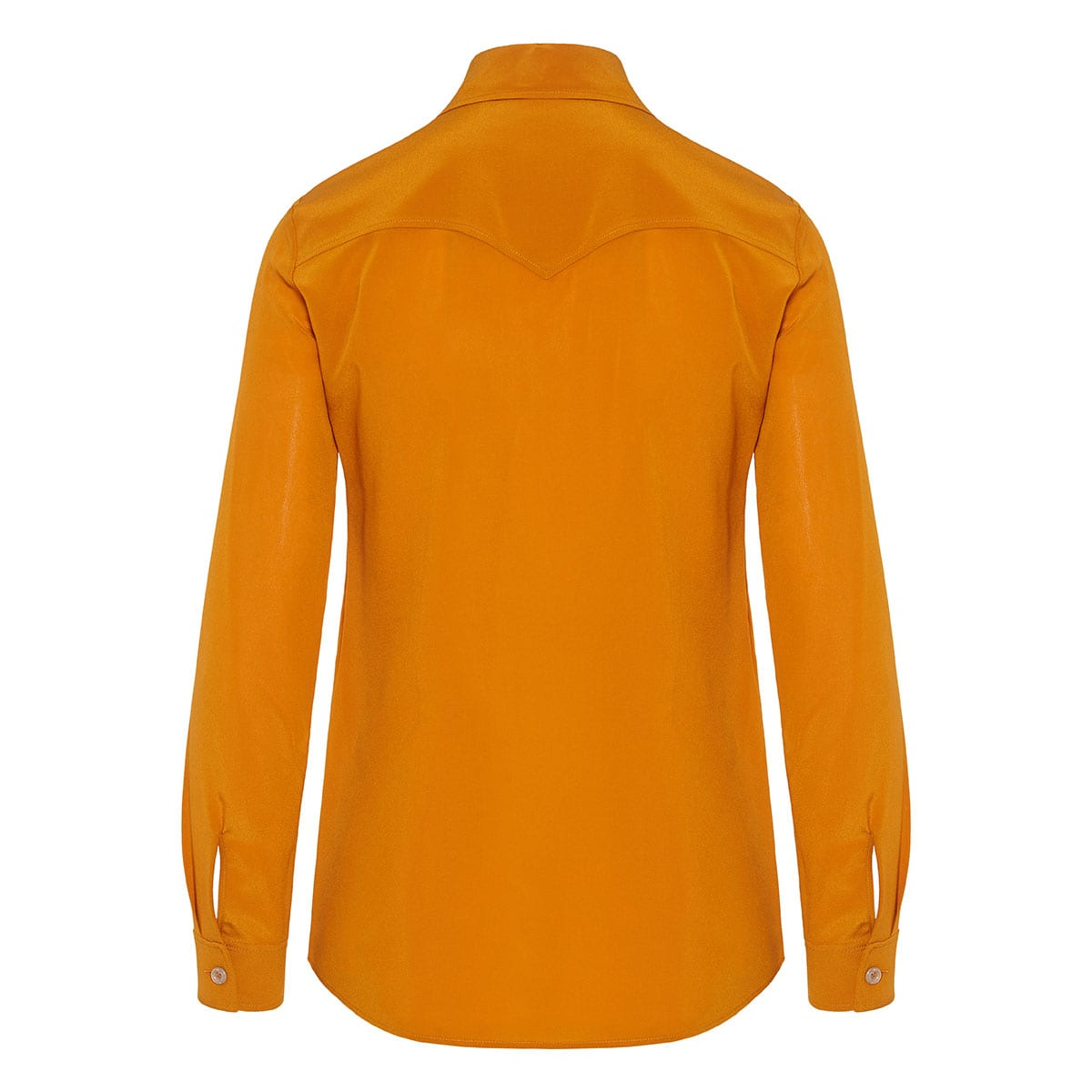 Pointed-collar silk shirt