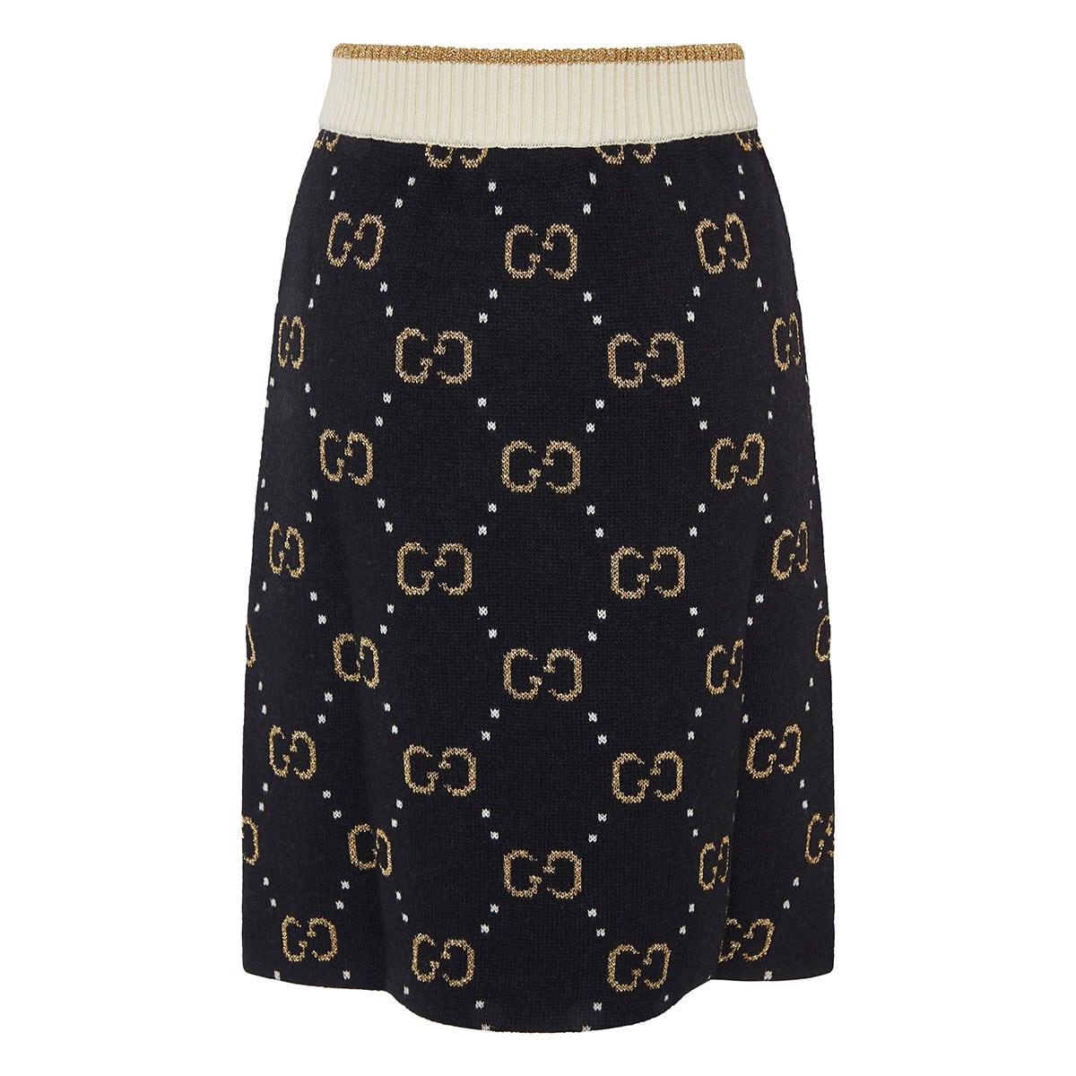 GG jacquard knitted skirt