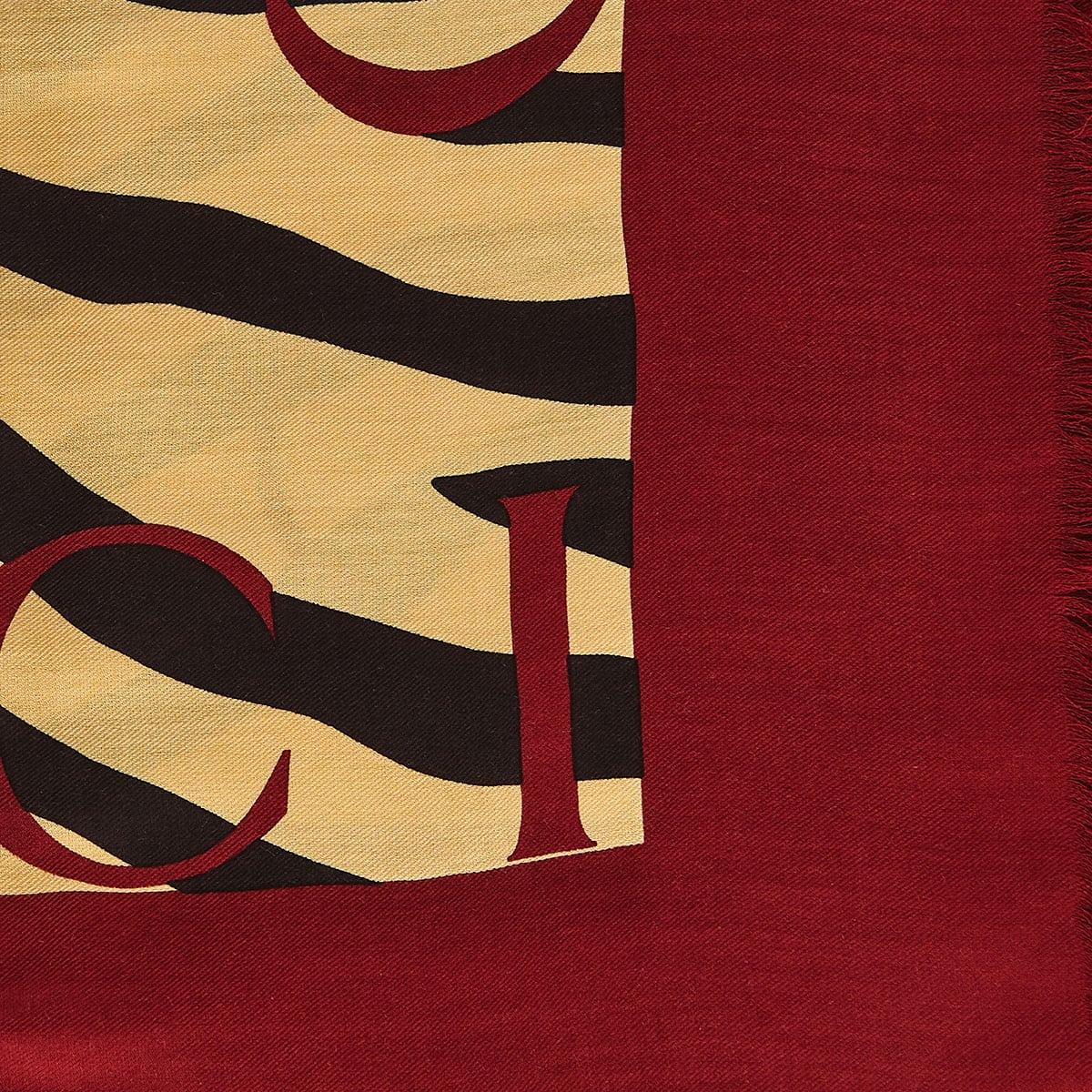 Tiger printed silk scarf