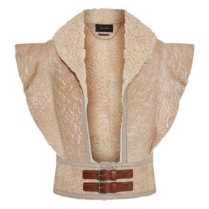Alixa cropped shearling vest