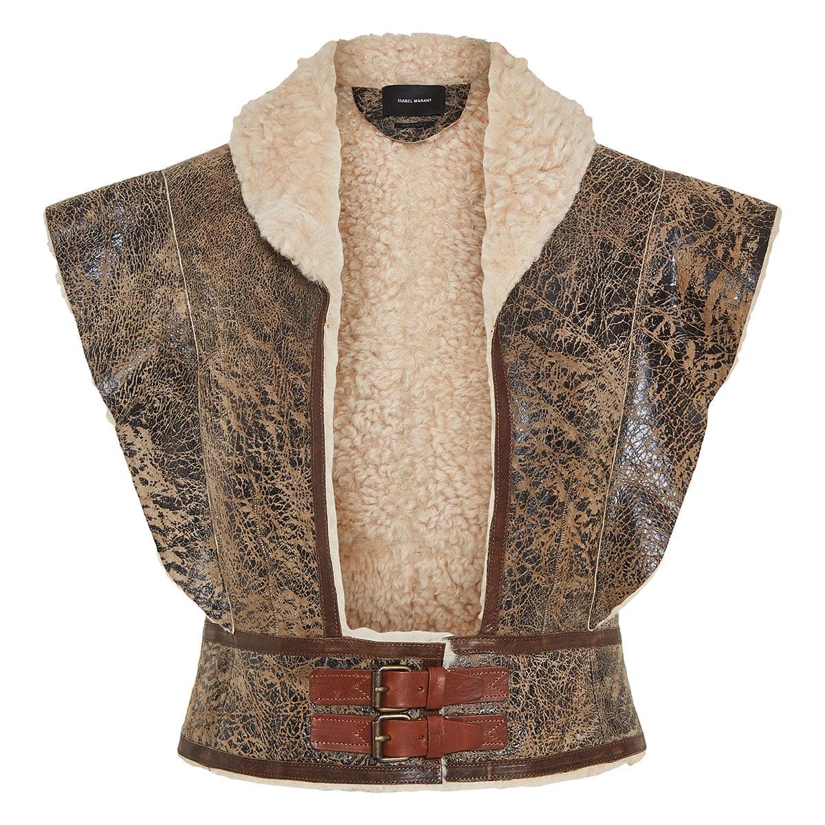 Alixa cropped shearling vest