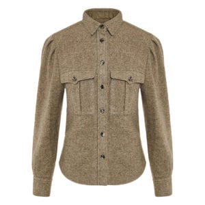 Florrie puffed-sleeve wool shirt