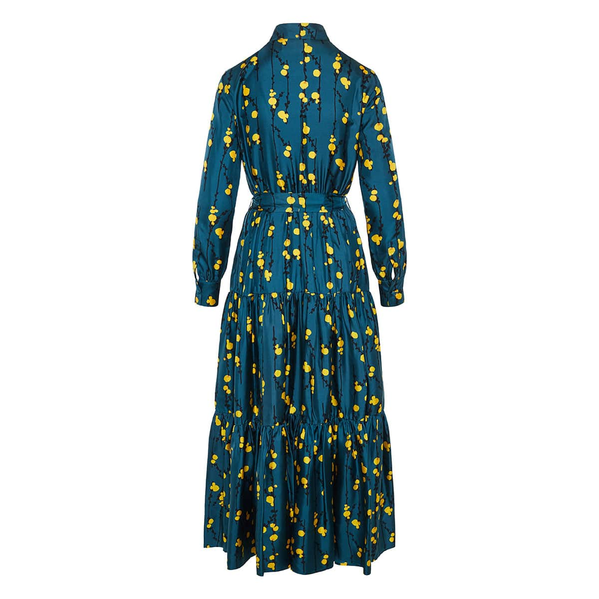 Bellini floral tiered shirt dress