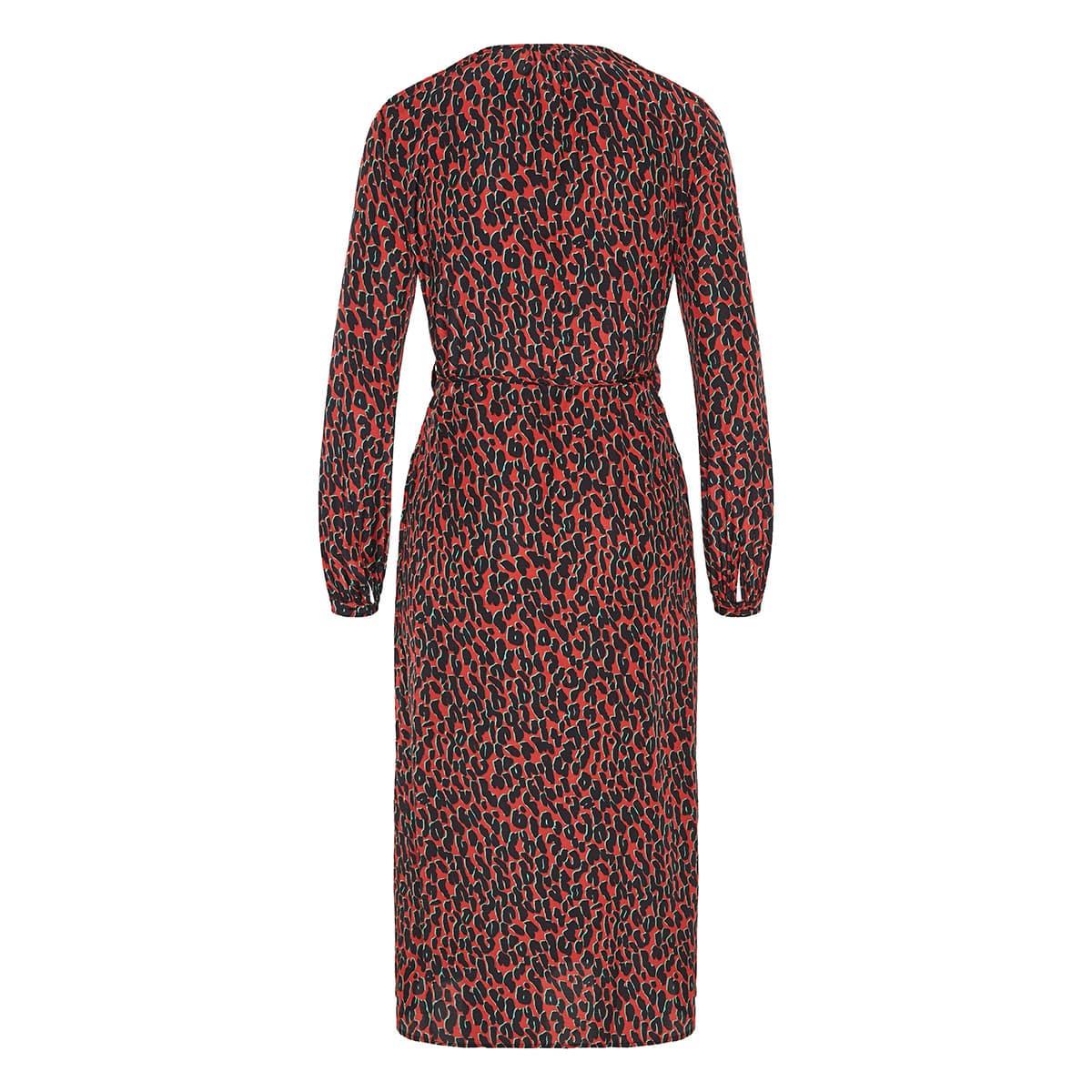 Leopard wrap midi dress