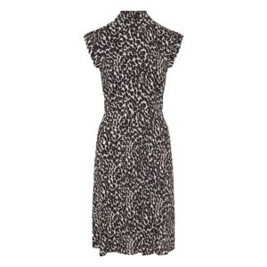 Bon Ton leopard crepe midi dress