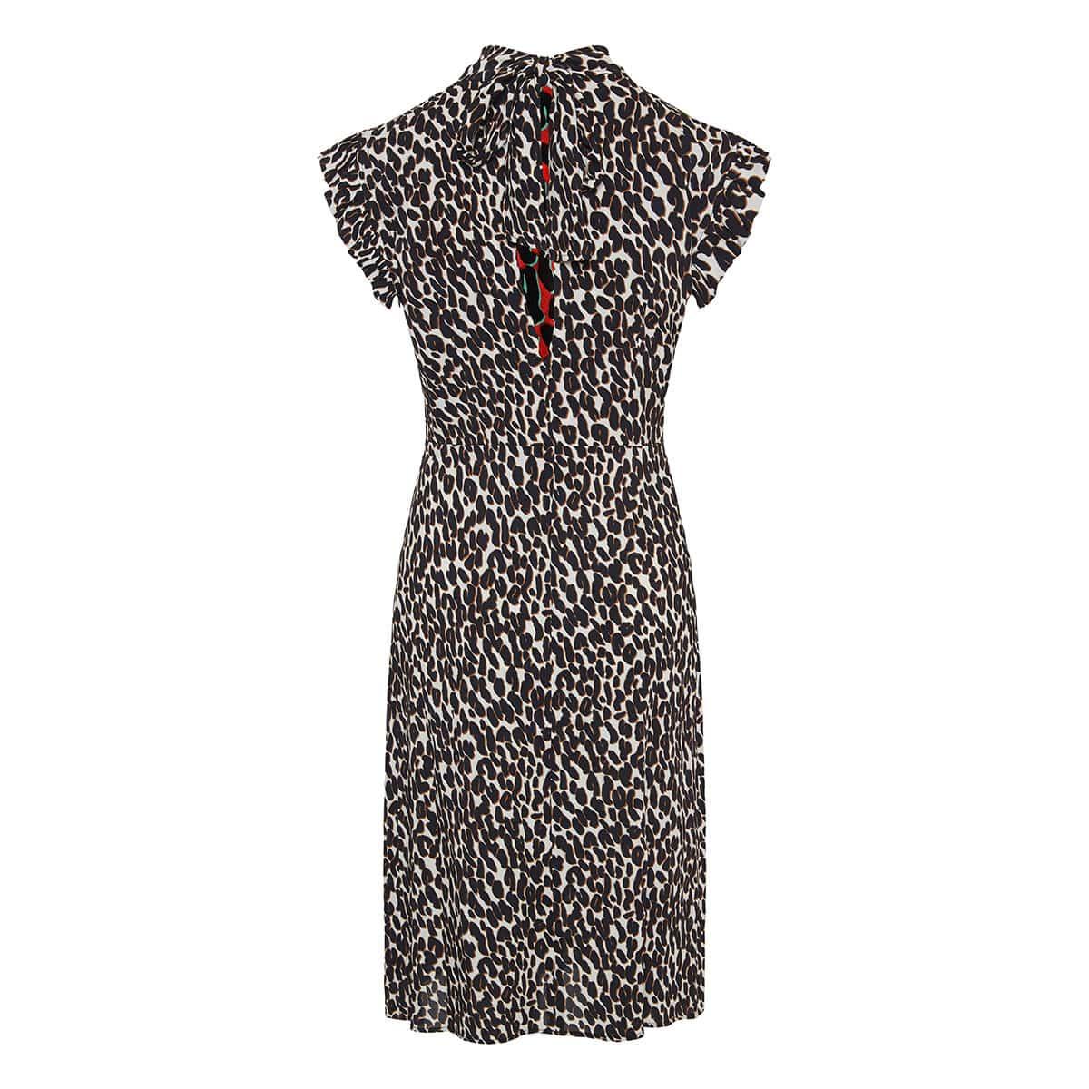 Bon Ton leopard crepe midi dress