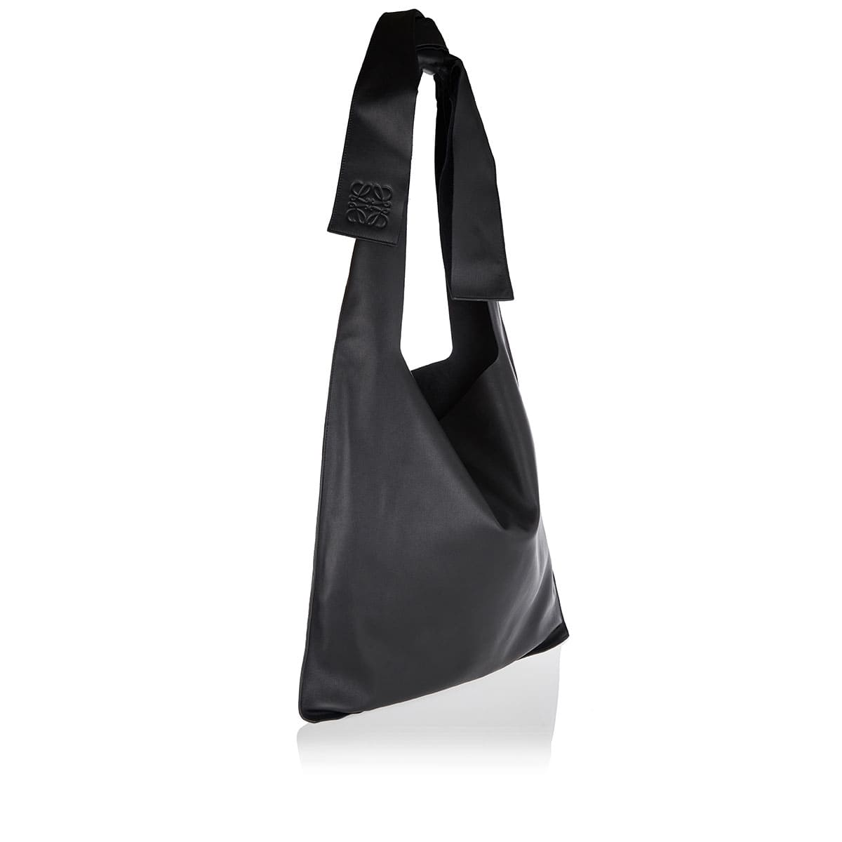 Bow leather tote