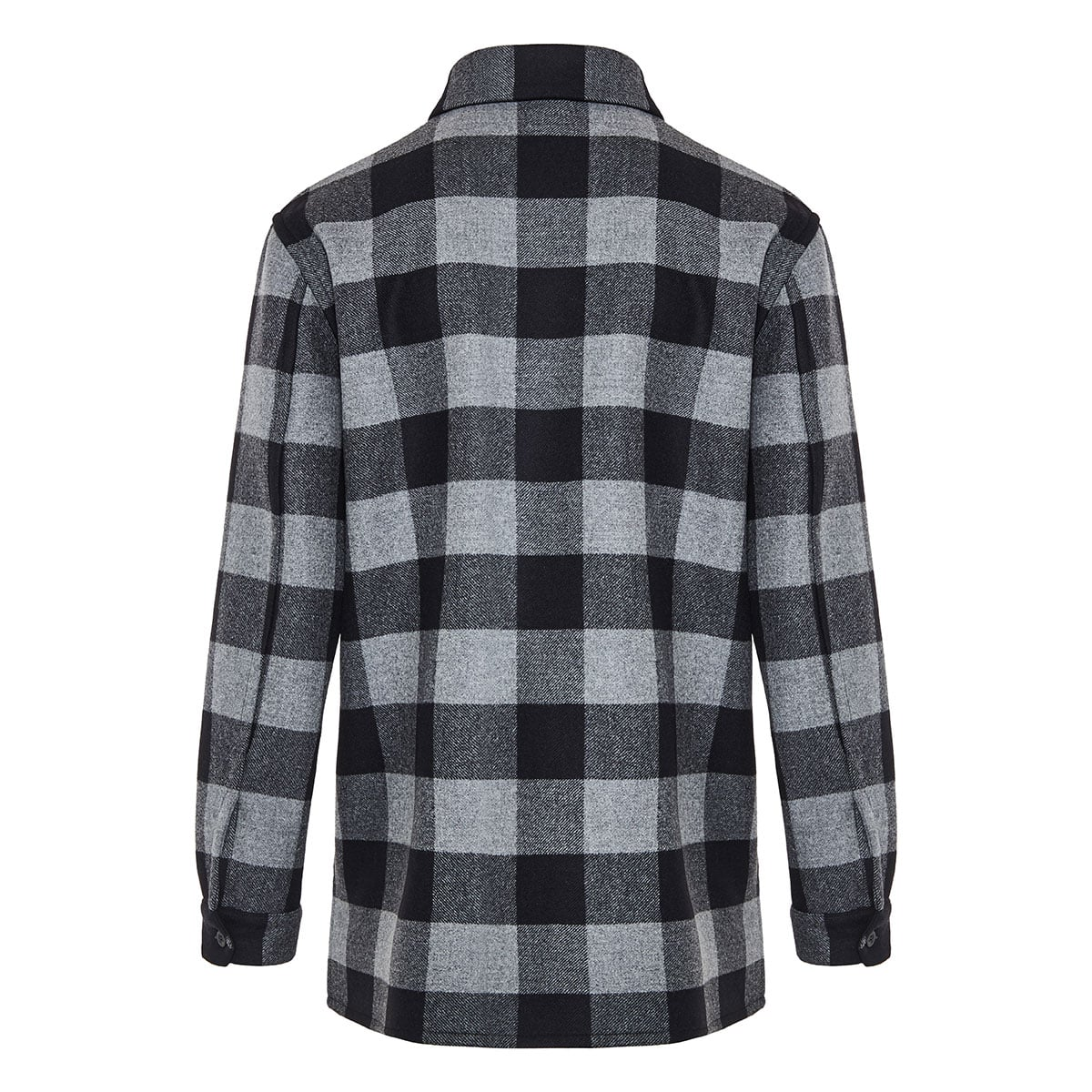 Checked wool overshirt