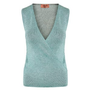 Wrap lurex knitted top