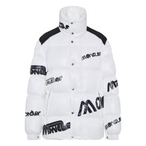 2 Moncler 1952+Valextra Mare logo puffer jacket
