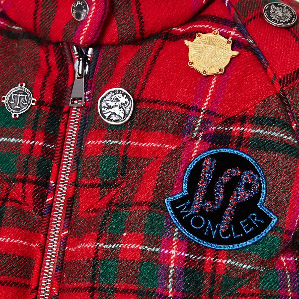 2 Moncler 1952 + Valextra checked puffer jacket