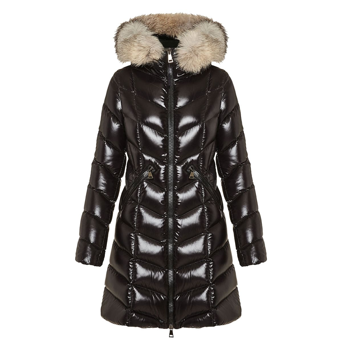 Fulmarus long quilted down jacket