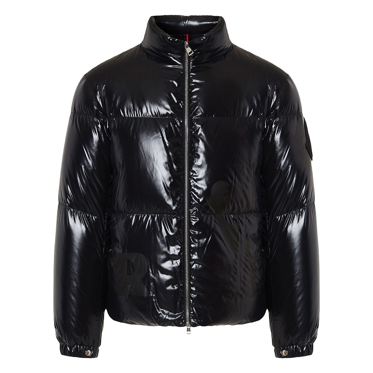 Logo quilted puffer jacket