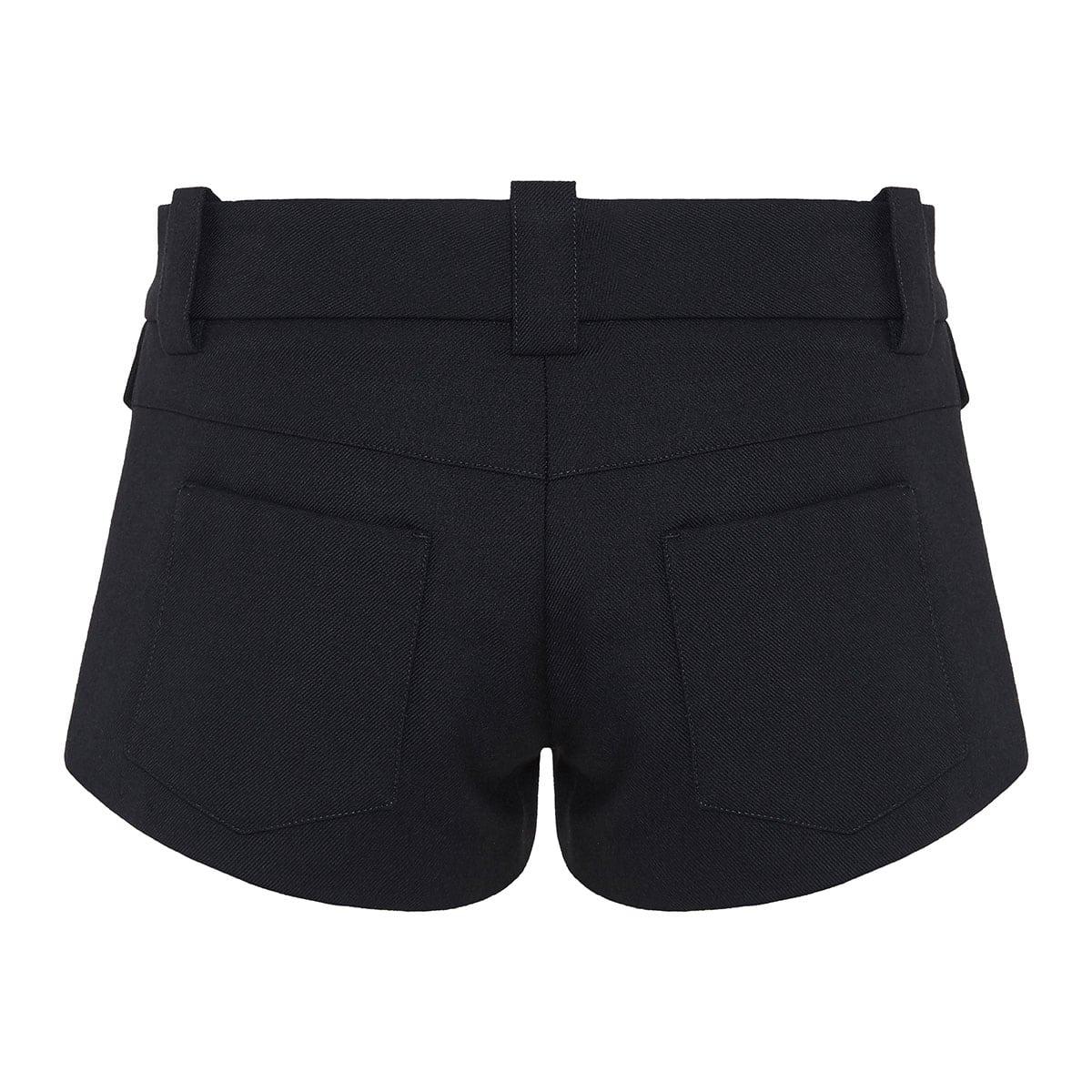 Wool micro shorts