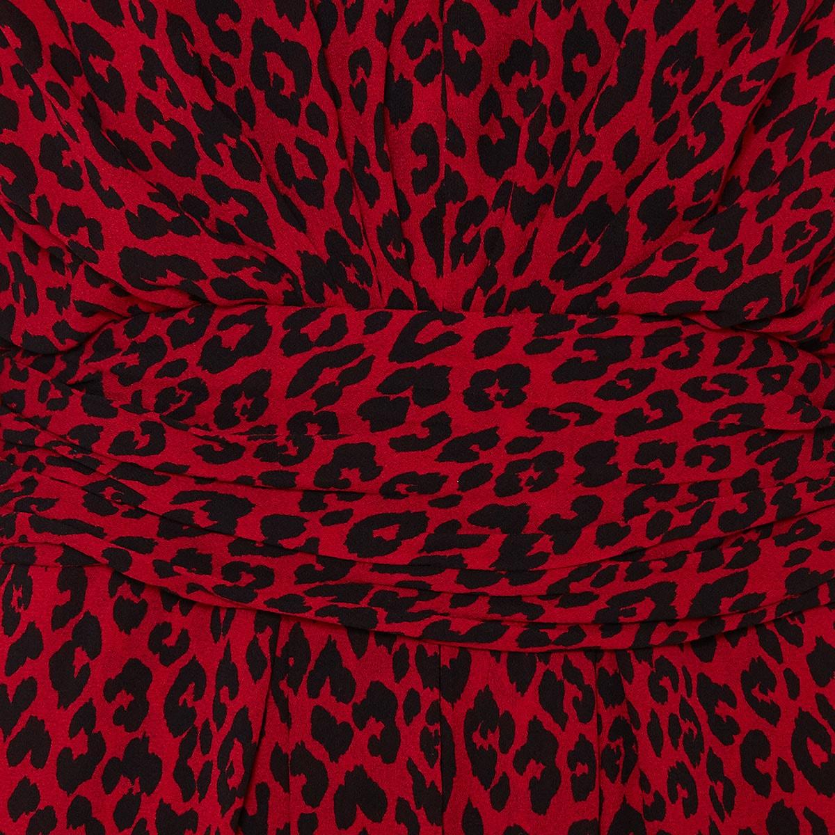 Leopard gathered mini dress