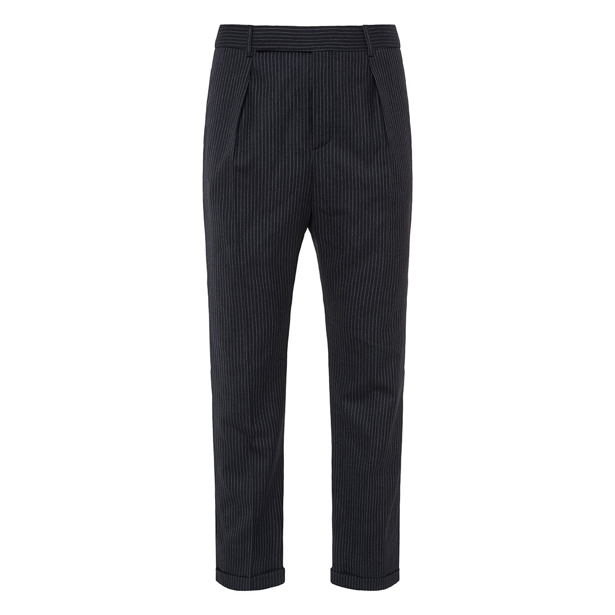 Pinstripe tailored trousers