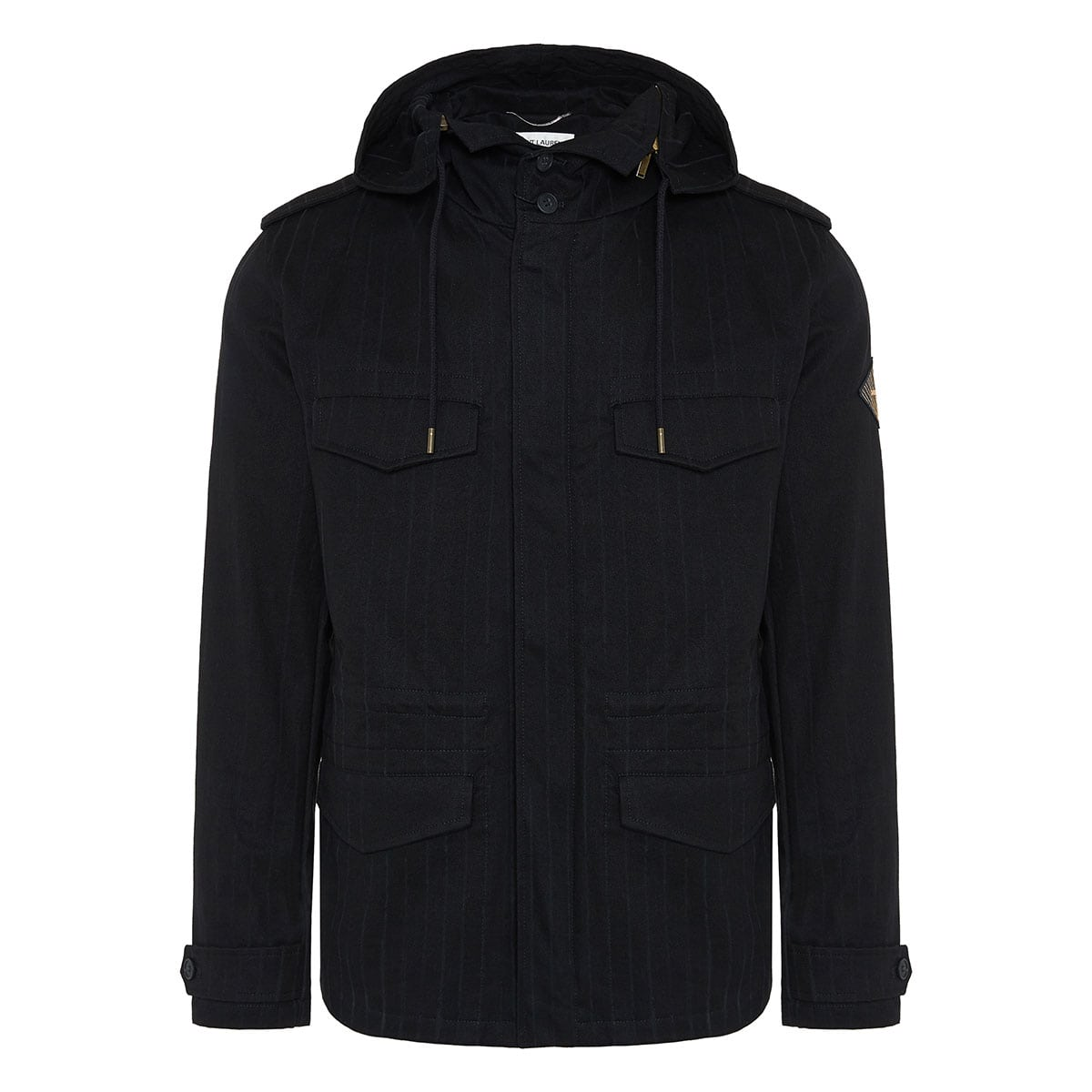 Military striped parka jacket