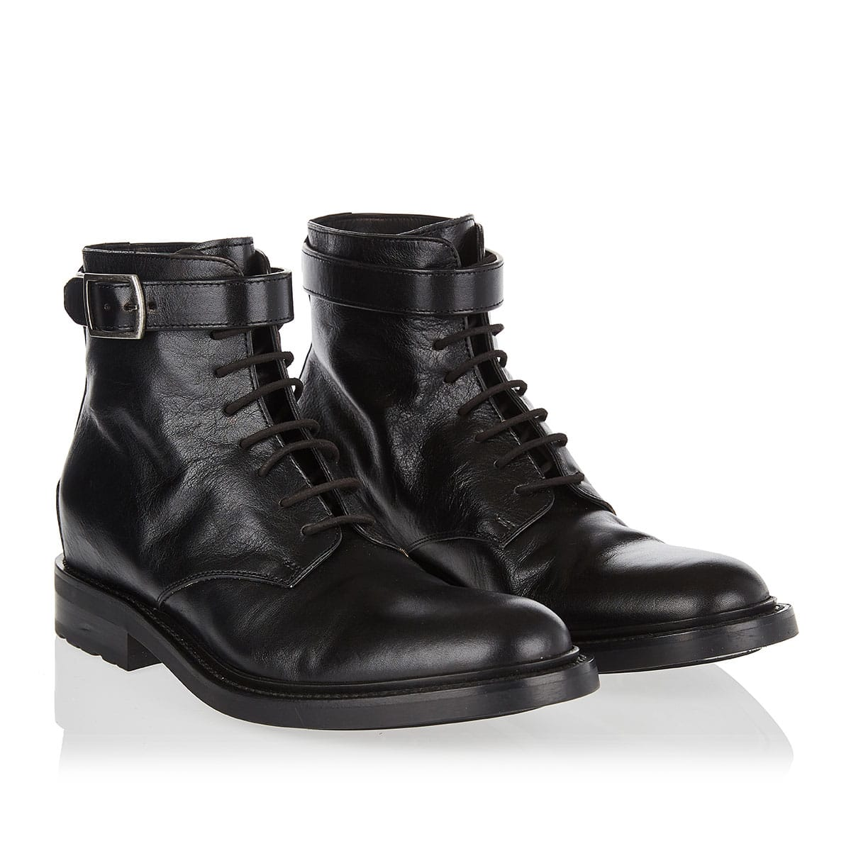Stud-detailed combat boots
