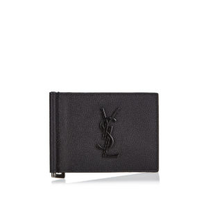 Monogram bi-fold leather wallet