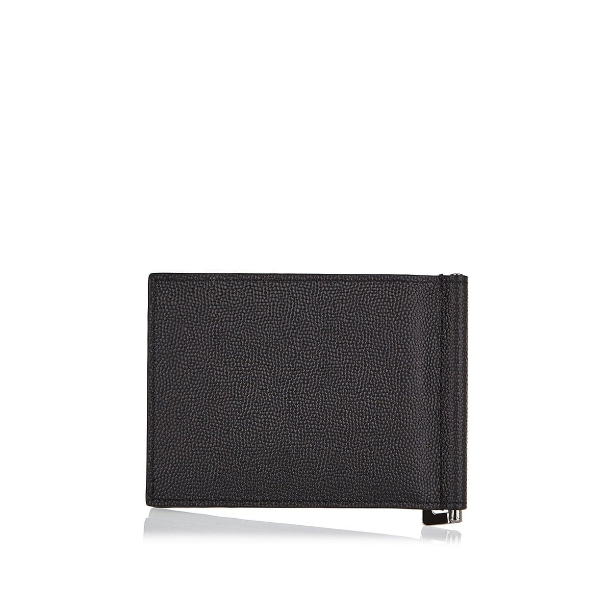 Monogram bi-fold leather wallet